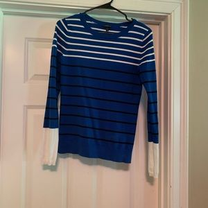 Long sleeve striped express sweater